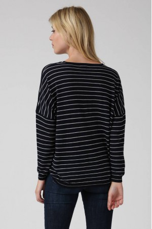 Pull Smiled bleu marine - Sweewe