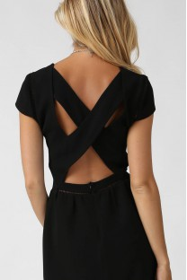Robe Aria noire - Opullence