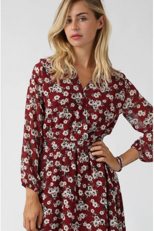 Robe Douce bordeaux - Lenny B