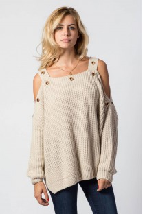 Pull Douce beige - Gold & Silver