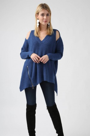 Pull Rose bleu - Miss K