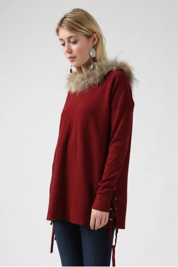 Pull Leana bordeaux - By CDP