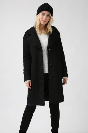 Manteau Clotilde noir - Sweewe