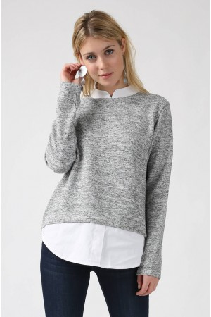Pull Noé gris - Sweewe