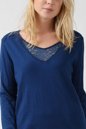 Pull Prune bleu - Season