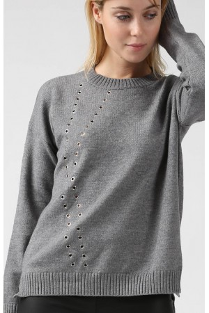 Pull Milly gris - Sweewe