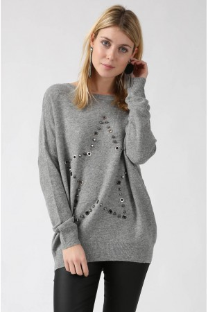 Pull Enora gris - By CDP