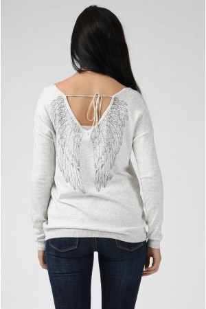 Pull Ailes gris - By CDP