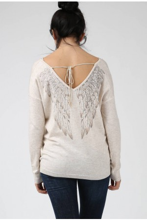 Pull Ailes beige - By CDP