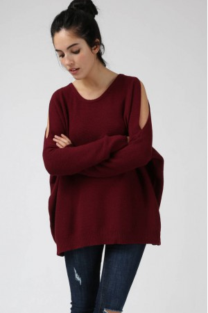 Pull Blake bordeaux - Sweewe