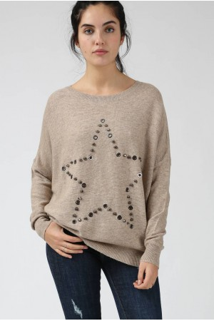 Pull Enora beige - By CDP