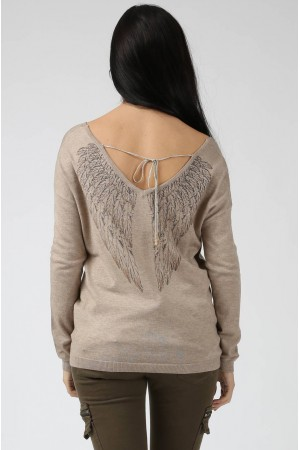 Pull Ailes taupe - By CDP