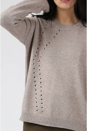 Pull Milly beige - Sweewe