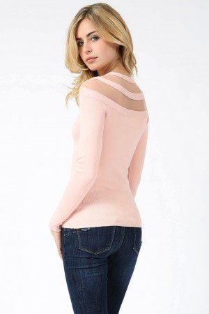 Top Ultra rose avec voile
