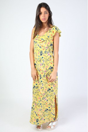 Robe longue Vaia jaune - Holly & Joey