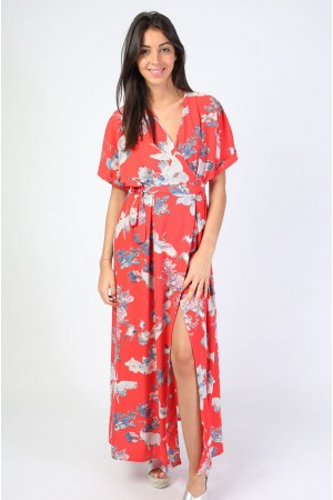 Robe longue Karen corail - Holly & Joey