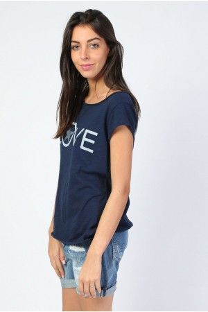 Tee-shirt Love marine