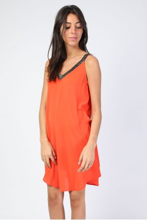 Robe Christie corail