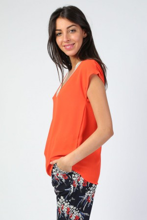 Top corail Giulia
